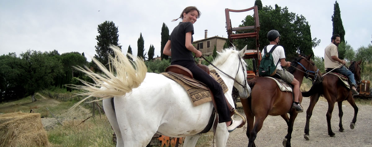Farmhouse with stables Val d'Orcia, near Siena perfect to go on horse riding tours